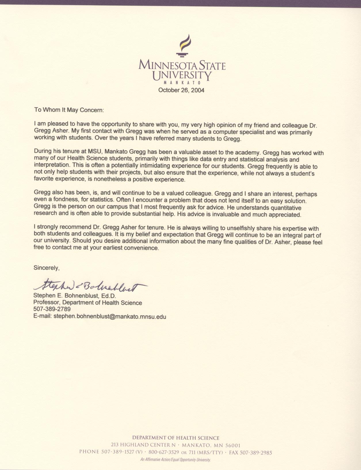 Sample letter of recommendation for college professor position tenure recommendation letter idealstalist spiritdancerdesigns Gallery